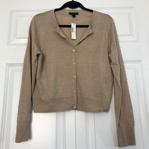 J.Crew Tilly Cardigan- Light Beige